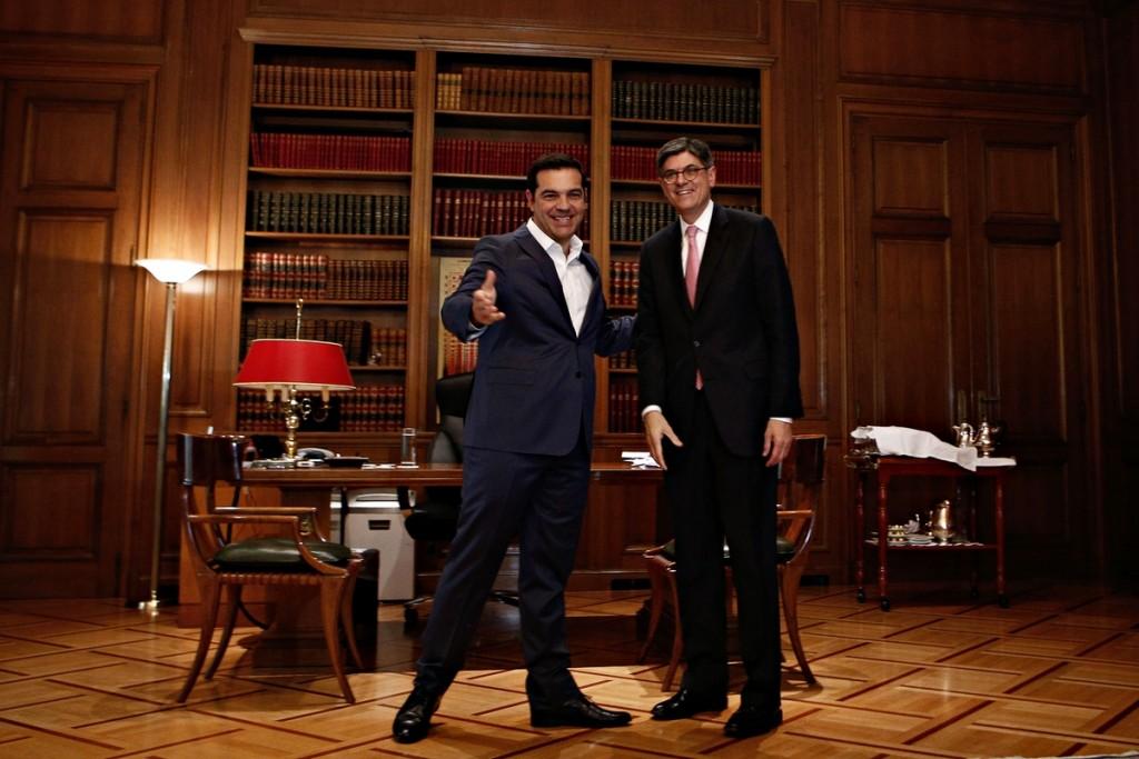 Meeting between the Prime Minister of Greece, Alexis Tsipras and the US Treasury Secretary Jack Lew , in Athens, on July 21,2016 / Συνάντηση μεταξύ του Πρωθυπουργου Αλέξη Τσίπρα του υπουργού Οικονομικών των ΗΠΑ, Τζακ Λιου, στην Αθήνα, στις 21 Ιουλίου, 2016