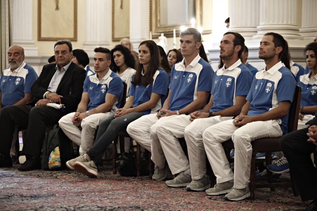 Event in honor of the athletes by Greek President Prokopis Pavlopoulos in Athens on Aug 25, 2016 / Εκδήλωση προς τιμήν των διακριθέντων αθλητών στους Ολυμπιακούς αγώνες του Ρίο ντε Τζανέιρο απο τον Πρόεδρο της Ελληνικής Δημοκρατίας Προκόπη Παυλόπουλο στη Αθήνα στις 25 Αυγούστου, 2016