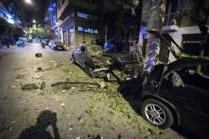 A bomb went off at Ippokratous street, at Exarcheia neighborhood, in central Athens, on Oct. 12, 2016 / Έκρηξη βόμβας στα Εξάρχεια, στην οδό Ιπποκράτους, στις 12 Οκτωβρίου, 2016