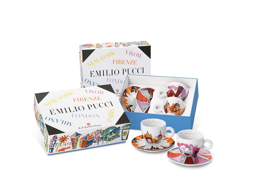 16305 illy Art Collection Emilio Pucci pack 2, cappuccini